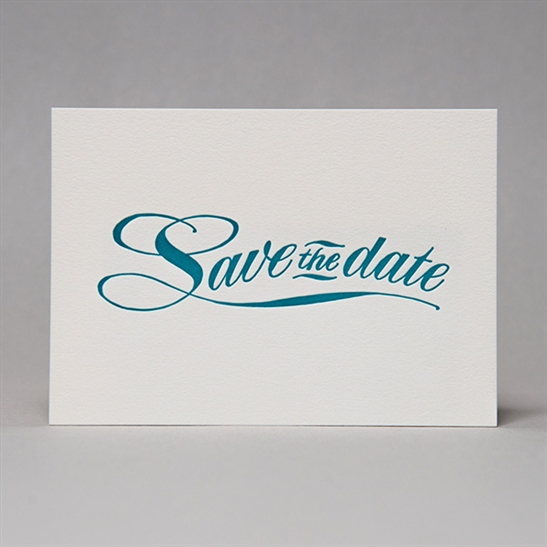 Save the Date cards in Turquoise Blue