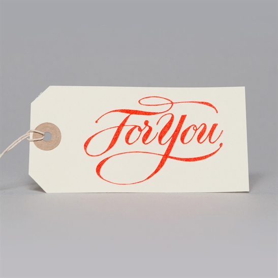 6 x For You tags in fluoro Orange