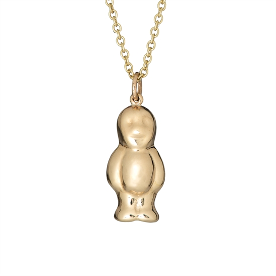 Large solid 9ct gold jelly baby and chain