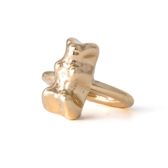 Solid 9ct gold gummy bear ring