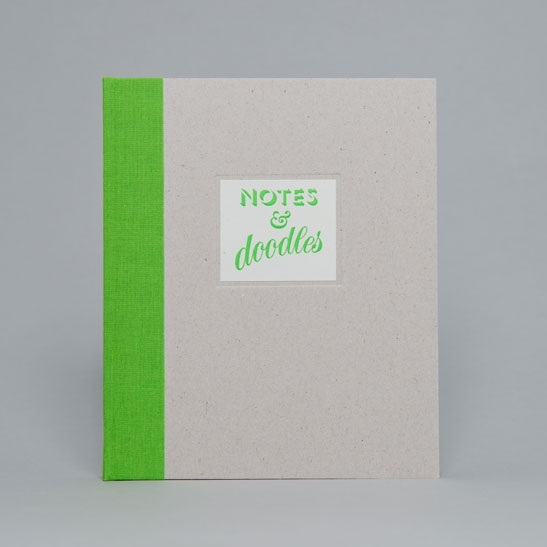 Notes & Doodles NOTEBOOK IN Bright Green