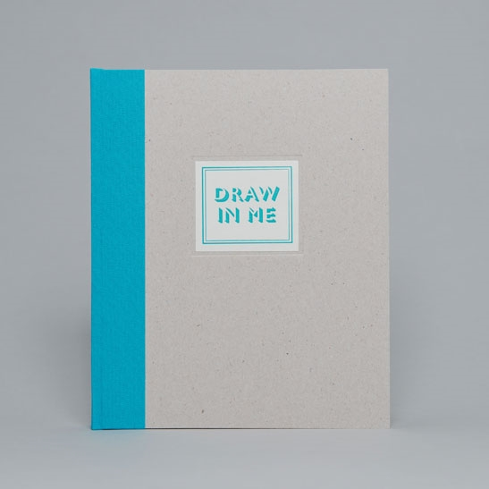 DRAW IN ME NOTEBOOK IN TURQUOISE BLUE