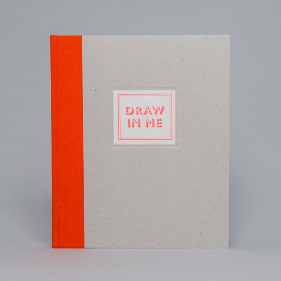 DRAW IN ME NOTEBOOK IN Fluoro Orange