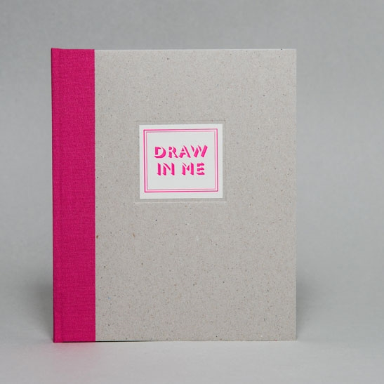 DRAW IN ME NOTEBOOK IN Fluoro Pink