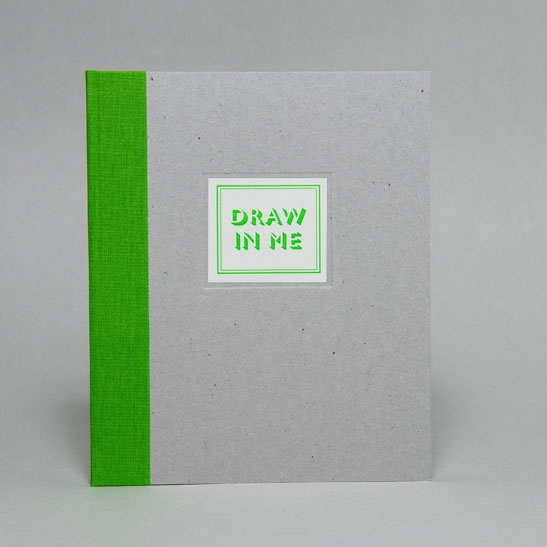 DRAW IN ME NOTEBOOK IN Bright Green
