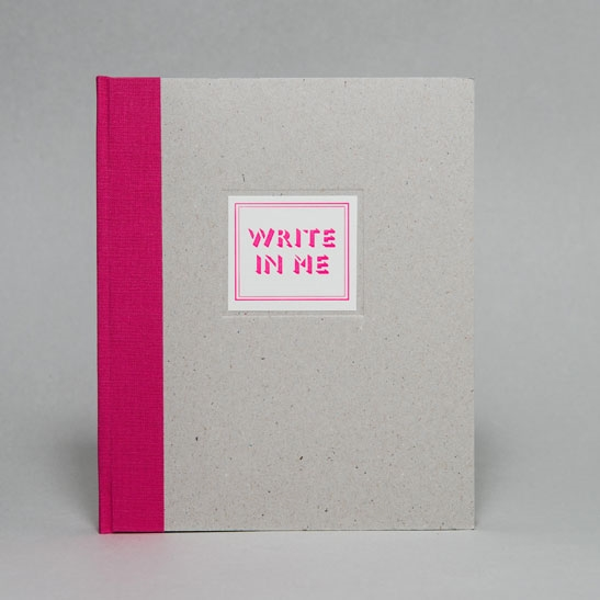 WRITE IN ME NOTEBOOK IN Fluoro Pink