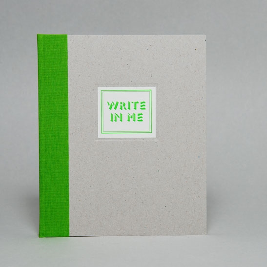 WRITE IN ME NOTEBOOK IN Bright Green