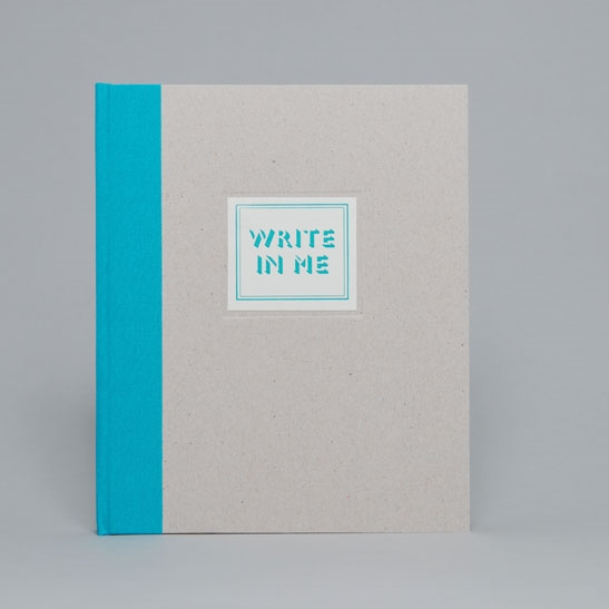 WRITE IN ME NOTEBOOK IN Turqoise Blue