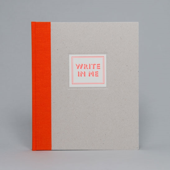 WRITE IN ME NOTEBOOK IN Fluoro Orange