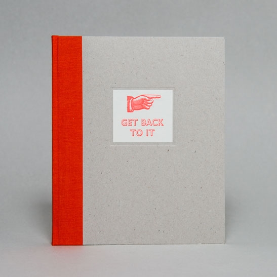 GET BACK TO IT NOTEBOOK IN  Fluoro Orange