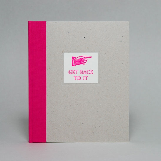 GET BACK TO IT NOTEBOOK IN  Fluoro Pink