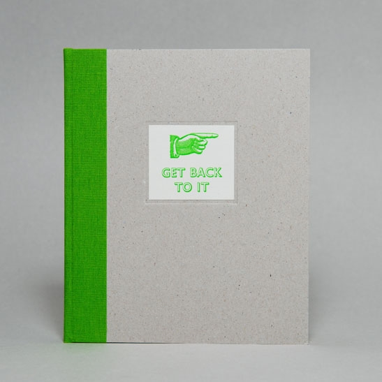 GET BACK TO IT NOTEBOOK IN  Bright Green