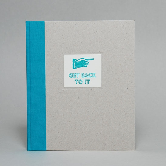 GET BACK TO IT NOTEBOOK IN Turqoise Blue