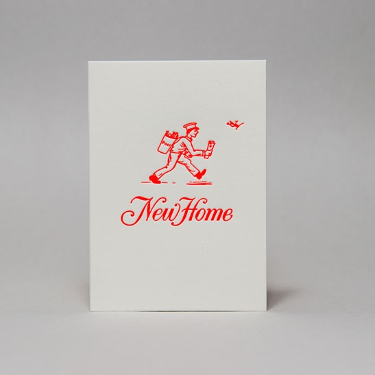 New Home card in Fluoro Orange