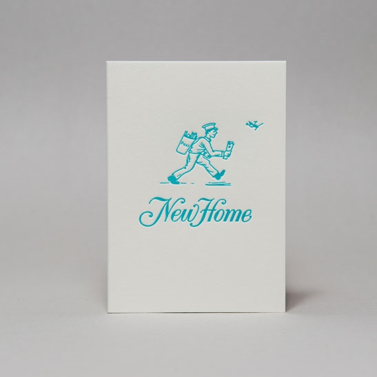 New Home card in Turquoise Blue