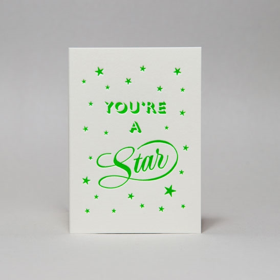 You're a star card in Bright Green