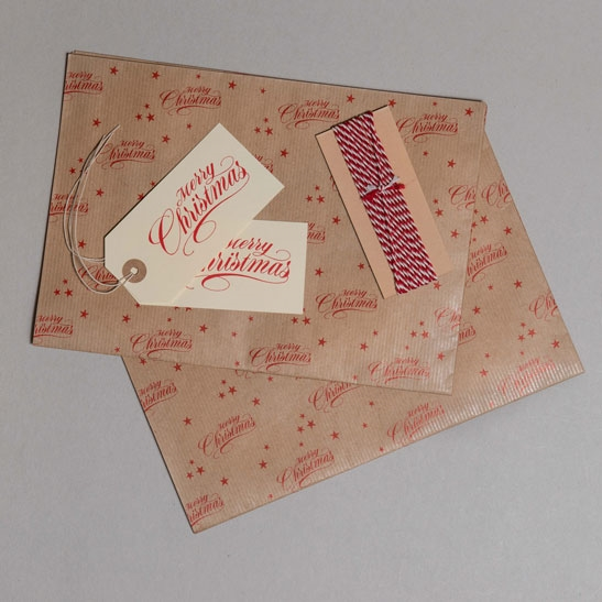 Merry Christmas Gift Wrap Pack Red