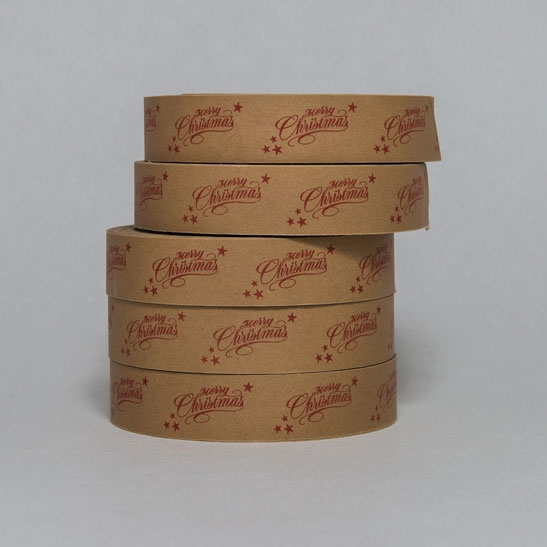 MERRY CHRISTMAS SCRIPT TAPE WITH STARS