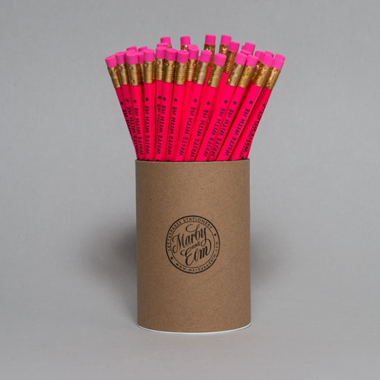 Flouro Pink Write With Me Pencils