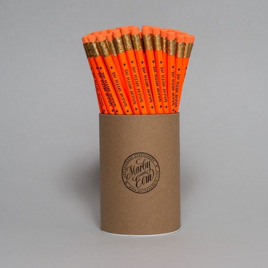 Fluoro Orange Draw With Me Pencils