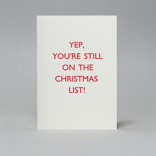 Yep, you're still on the Christmas list - Pack of 5