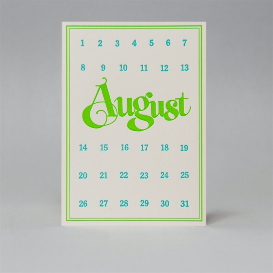 Special Day Card - August