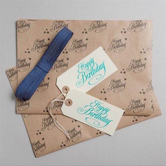 Happy Birthday Gift Wrap Pack Blue