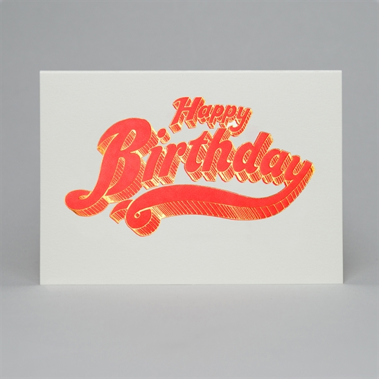 Happy Birthday letterpress & foil card