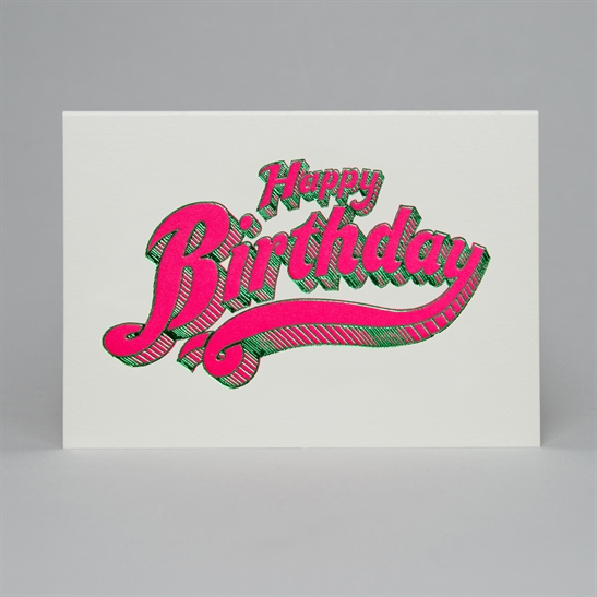Happy Birthday letterpress and foil