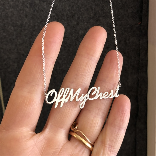 Silver Necklace - Off my chest