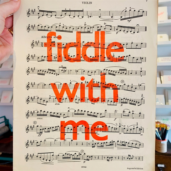 Fiddle with me poster