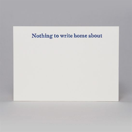 Nothing to write home about - correspondence cards