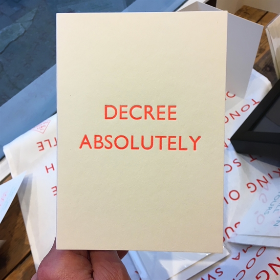 Divorce Card - Decree Absolutely