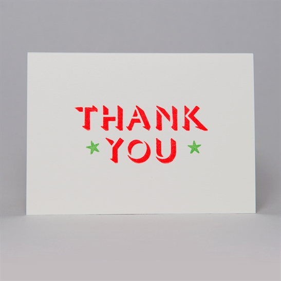 Thank you with stars card