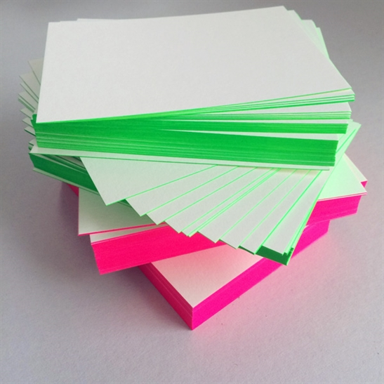 Fluoro edged cards